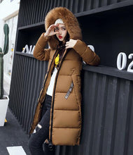 Load image into Gallery viewer, New Winter Large Fur Collar Padded Cotton Warm Jacket