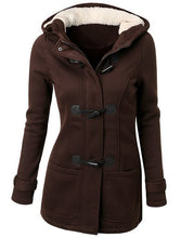Load image into Gallery viewer, Long Sleeve Hooded Plus Size 5xl Warm Coat