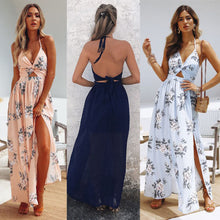 Load image into Gallery viewer, Women Maxi Long Dress Holiday Summer Evening Party Beach Slit Spilt Sundress Woman Ladies Sleeveless Dresses-Women's clothing-Drop it when its Hot