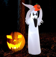Load image into Gallery viewer, Inflatable Halloween Floating Ghost Pumpkin Outdoor Decoration w/ LED Lights 6FT
