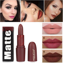 Load image into Gallery viewer, Nude Matte 22Colors Lipstick Velvet Waterproof Beauty Lips Long lasting Hot Tint Pigment lipstick Makeup