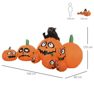 Halloween 1.2m LED Outdoor Inflatable Decoration - Seven Pumpkins-Drop it when its Hot-Drop it when its Hot