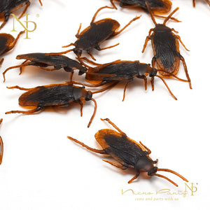 12pcs Funny Fake Cockroach Halloween Decoration