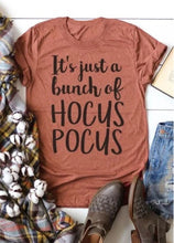 Load image into Gallery viewer, Female Halloween  It's Just A Bunch of Hocus Pocus Tshirt