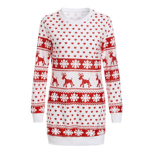 Ladies Christmas Long Pullover