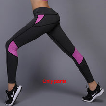 Load image into Gallery viewer, Yoga Set sports wear for women gym TShirt + Pants Breathable Gym Workout Clothes Compressed Yoga Leggings Sport Suit-Drop it when its Hot