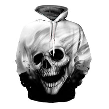Load image into Gallery viewer, 3D Hoodies Skull Print Sweatshirt Women