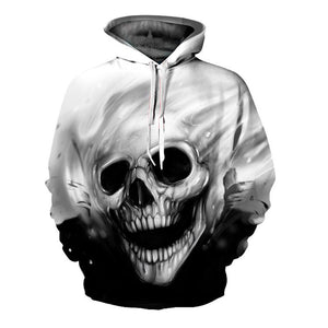 3D Hoodies Skull Print Sweatshirt Women