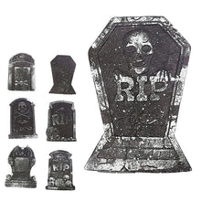 Load image into Gallery viewer, Halloween Foam Tombstone Skeleton Tombstone Haunted House