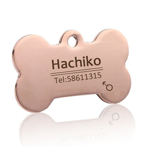 Customized Engraved Pet Dog Cat Collar ID Tags
