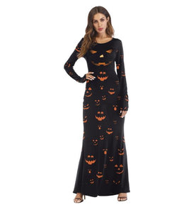 Halloween Costumes COS Dress Up Ghost Long Sleeve Dress