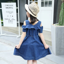 Load image into Gallery viewer, Girls Denim Dress for Children