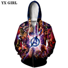 Load image into Gallery viewer, PLstar Cosmos Marvel Avengers Infinity War Hoodie-Drop it when its Hot