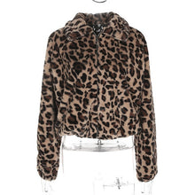 Load image into Gallery viewer, Winter Leopard Faux Fur Coat Slim Fit