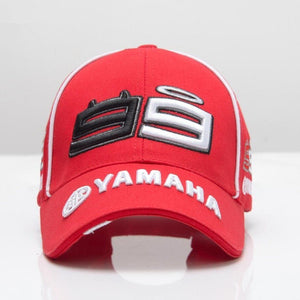 The New Moto Gp F1 2019 Jorge Lorenzo 99 Man Embroidered Yamaha Motorcycle Racing Sport Men's Baseball Cap Hat-Drop it when its Hot