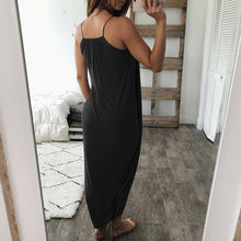 Load image into Gallery viewer, Women Airy Maxi Dress Solid Color Knitting Sleeveless Loose for Summer Beach Party-Drop it when its Hot
