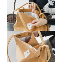 Load image into Gallery viewer, High Capacity Corduroy Tote Ladies Casual Shoulder Bag