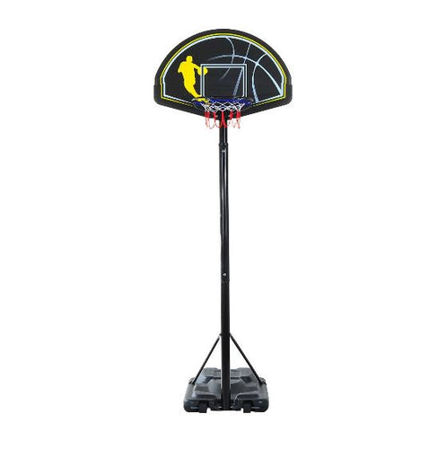 Portable Basketball Stand Net Hoop With Wheels (Black)
