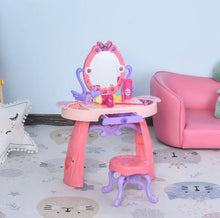 Load image into Gallery viewer, Kids Pretend Play Vanity Table Set (Pink/Purple)
