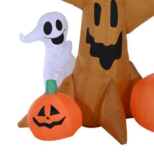 Load image into Gallery viewer, Inflatable Tree With Ghost, Owl & Pumpkins.