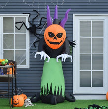 Load image into Gallery viewer, 240cm Inflatable Halloween Pumpkin Ghost With LED Lights