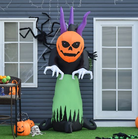 240cm Inflatable Halloween Pumpkin Ghost With LED Lights