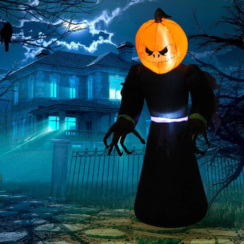 Inflatable 2.1m Pumpkin Man With LED lights.