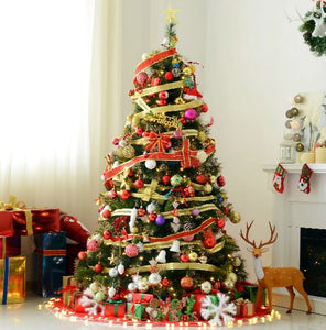 1.8m Pre-Lit Artificial Christmas Tree (Green)