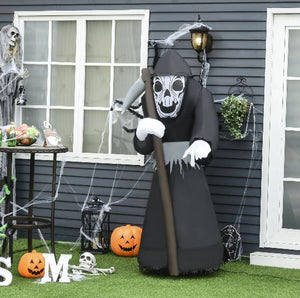 1.8m Halloween Inflatable Sickle Ghost With LED Light