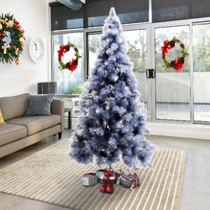 210H cm, Christmas Tree With Replica Berry And Spruce (Grey)