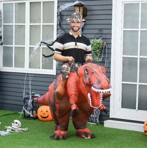LED-Lit Inflatable T-Rex Costume (Red)