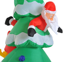 Load image into Gallery viewer, 7 Ft Inflatable Christmas Tree With Santa & Rudolph Decoration.
