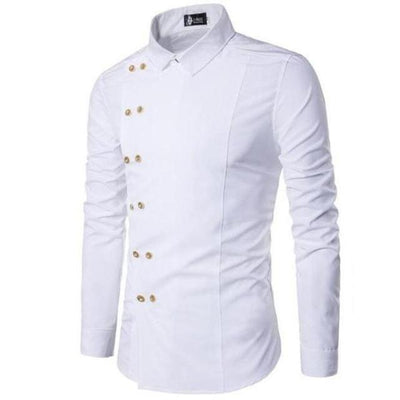 Double Breasted Admiral's Dress Shirt