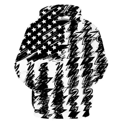 Black and White USA Hoodie
