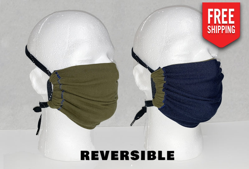 Reversible Face Mask Adult / Earth And Water