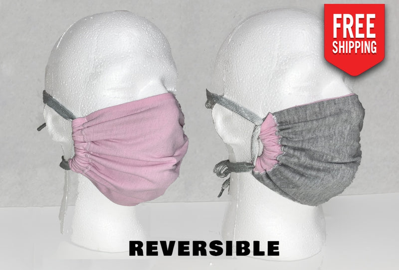 Reversible Face Mask Adult / Pink Fuzz