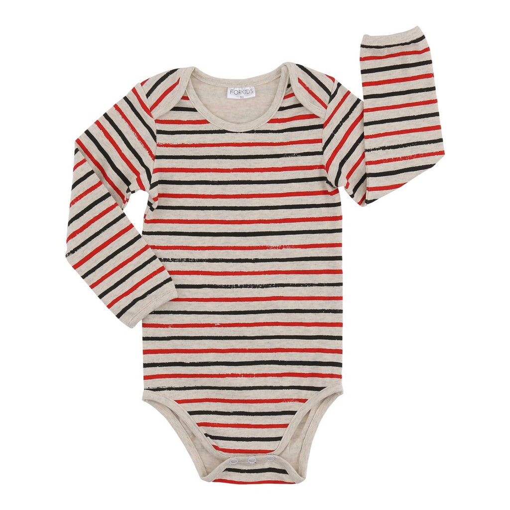 Red/black stripes body