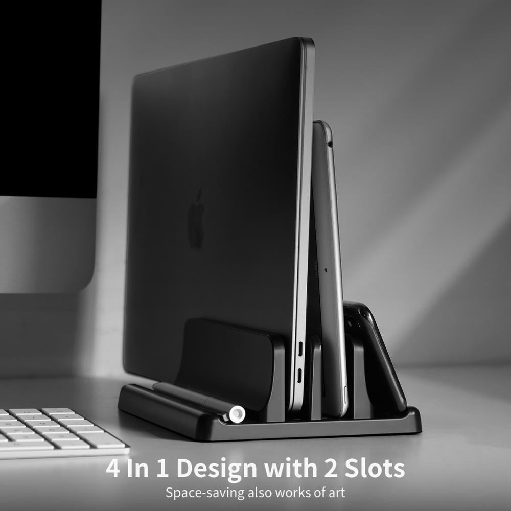 Plastic Vertical Laptop Stand Holder 3 In 1