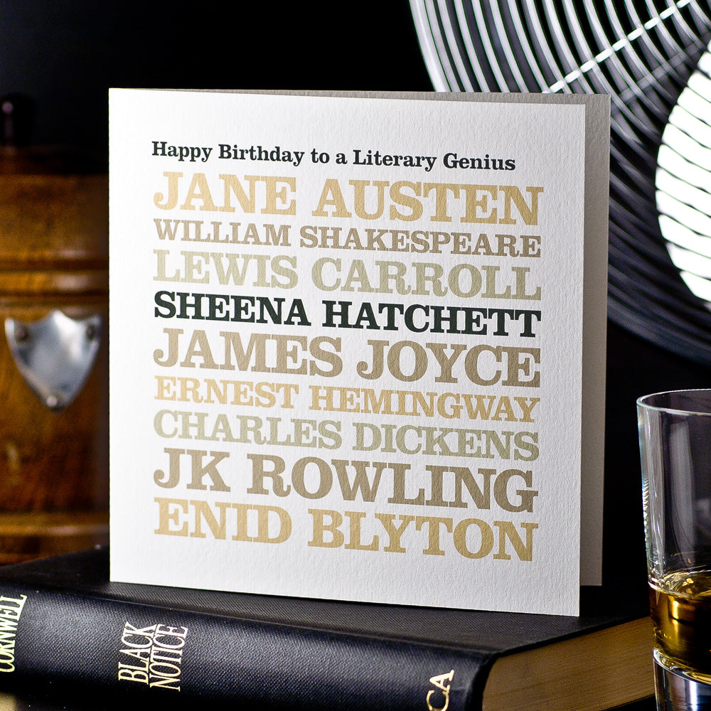 Personalised Famous 'Author' Card