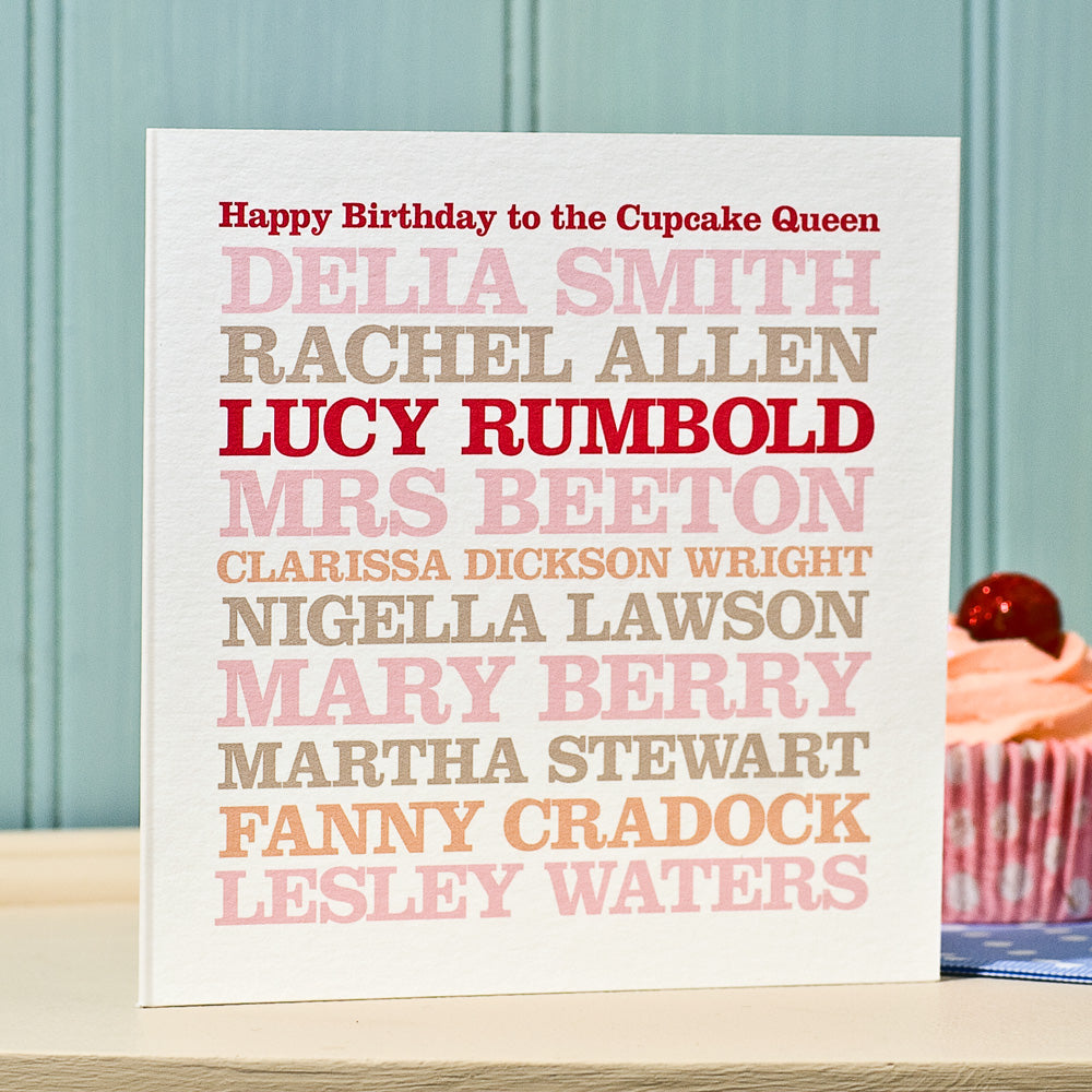 Personalised Famous 'Baker' Card