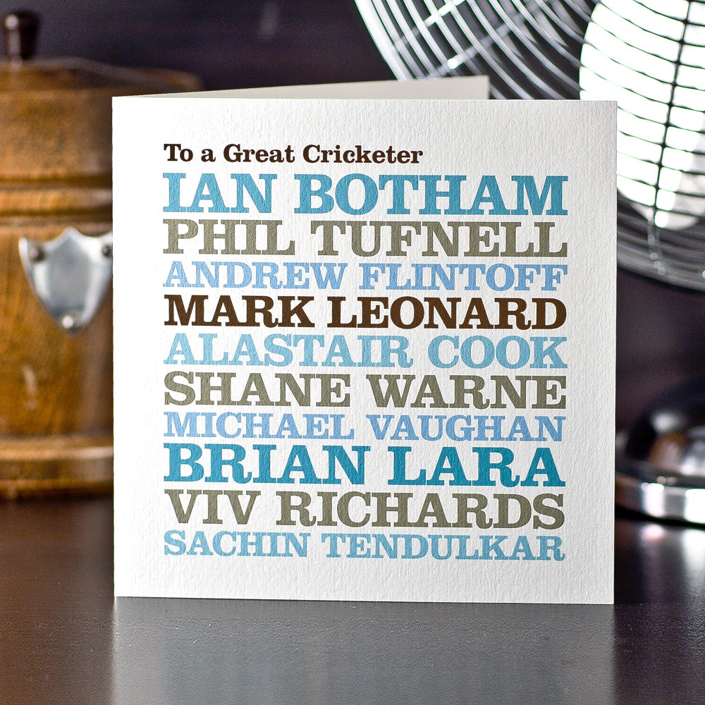 Personalised Celebrity 'Cricket Player' Card