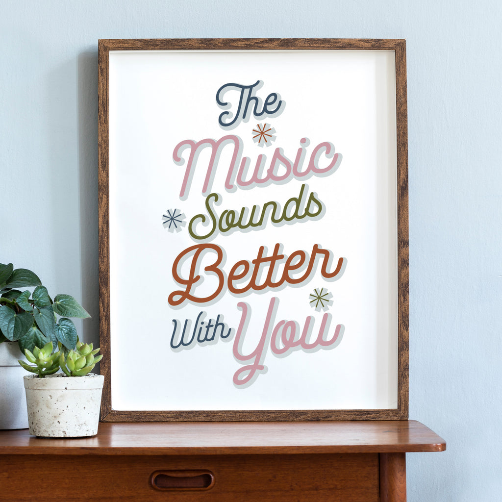 Personalised Song Lyrics Poster in Hygge