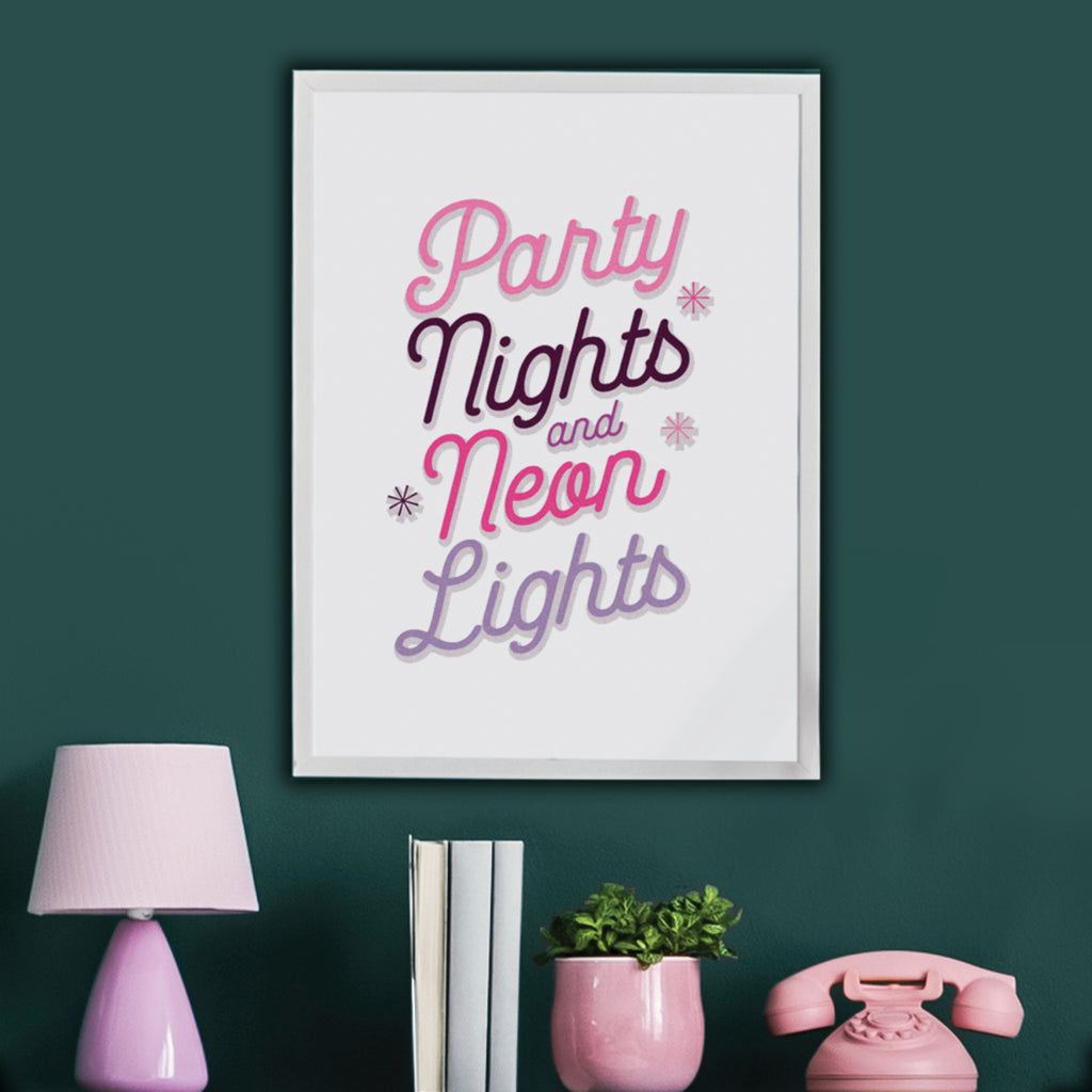 Personalised Song Lyrics Poster in Pinks