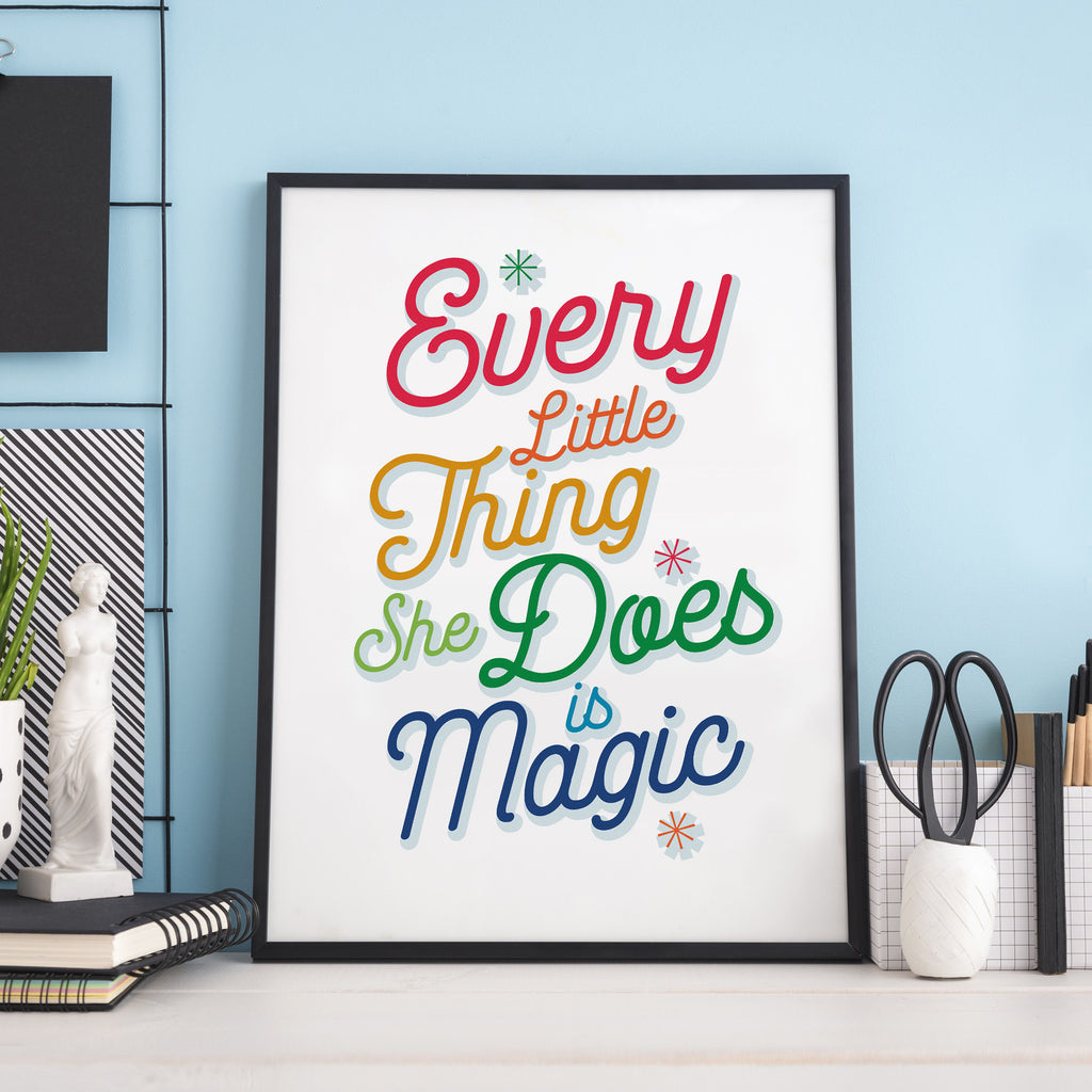 Personalised Song Lyrics Poster in Rainbow