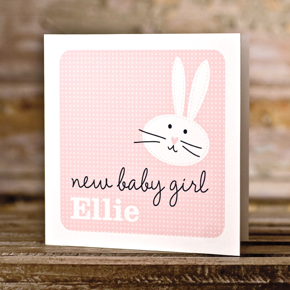 New Baby Girl - Bunny Pink 2