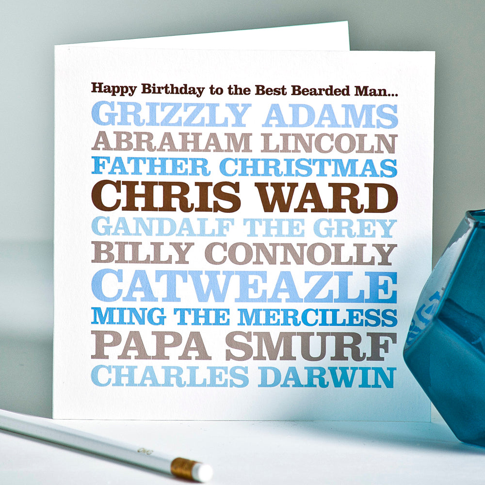 Personalised Celebrity 'Bearded Man' Card
