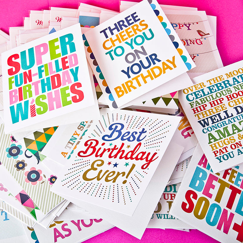 A Box Of Eighty Greeting Cards