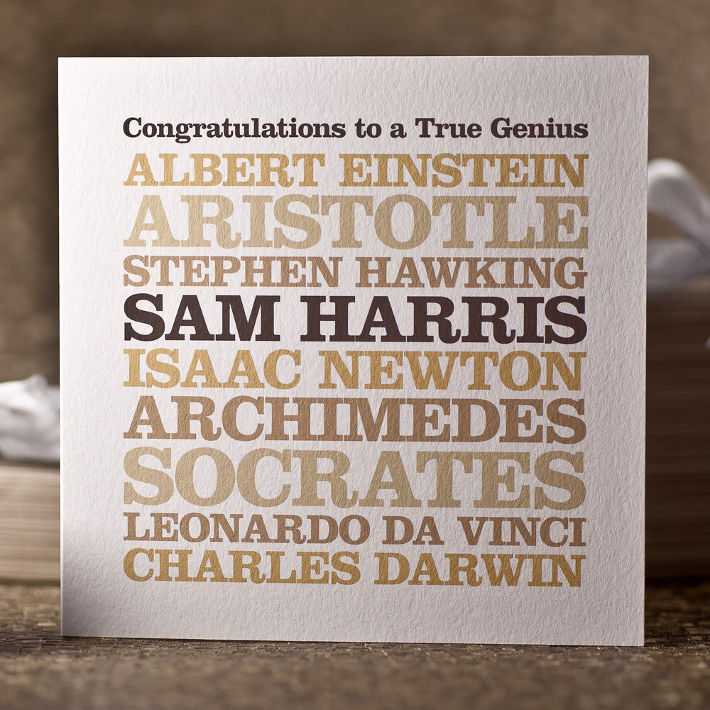 Personalised 'True Genius' Card