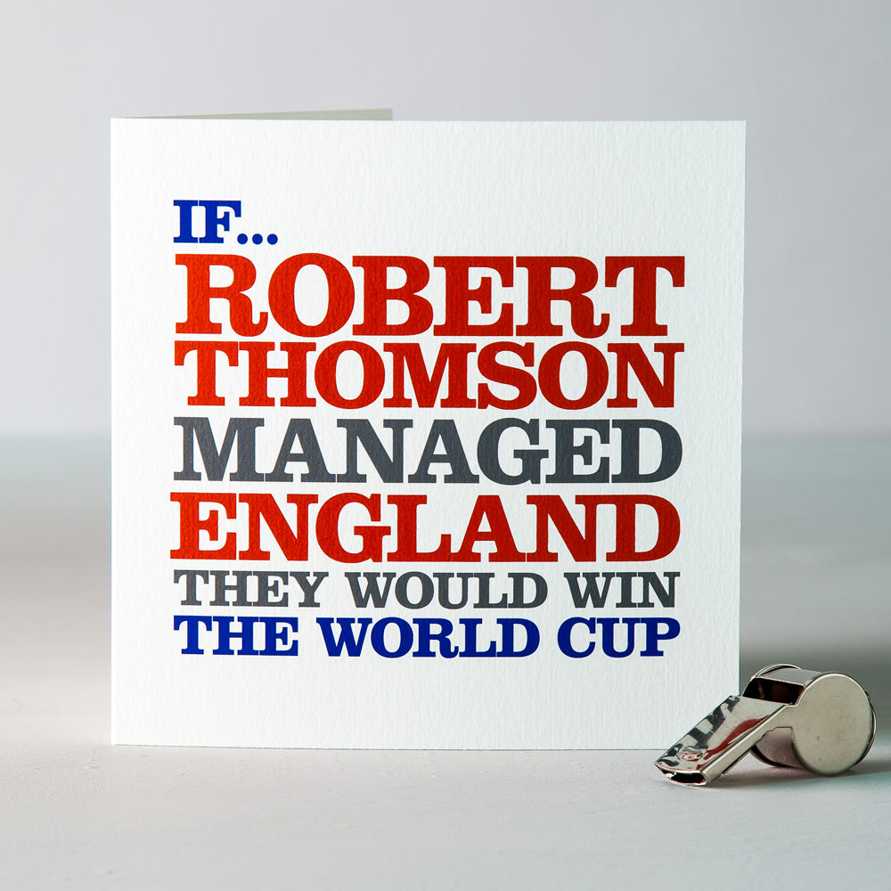 Famous 'England Football Manager' Card