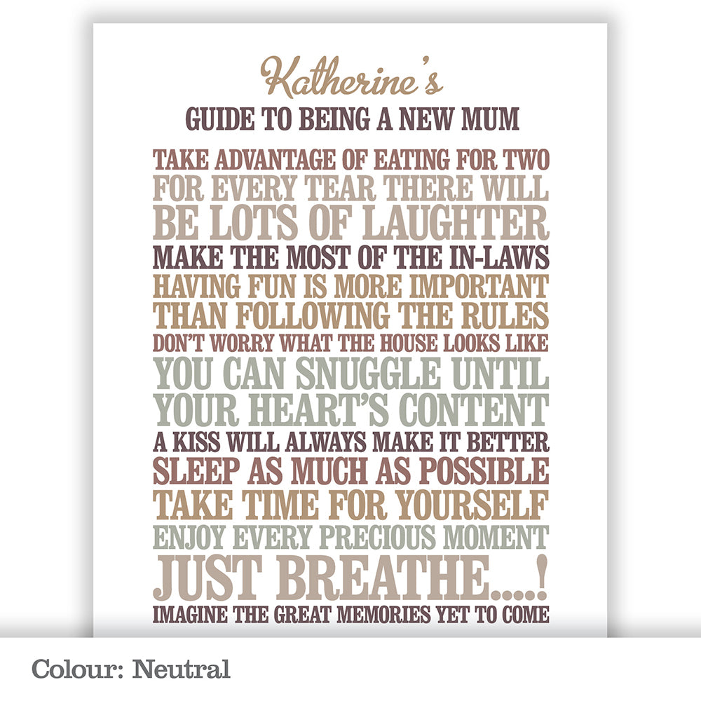 Personalised New Parents Print